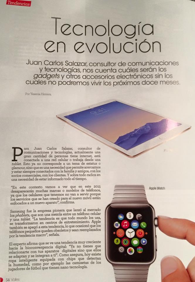 «Tecnología en evolución» – Revista Valles
